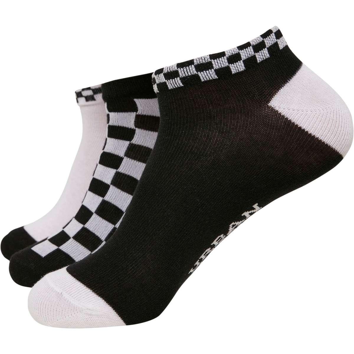 SNEAKER SOCKS CHECKS 3-PACK TB3387 BLACK / WHITE